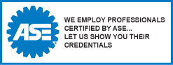 ASE Logo - We employ professionals certified by ASE